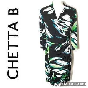 Chetta B Faux Wrap Dress Sz 10
